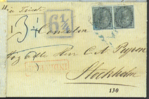 cover 1858 (16 June) entire le