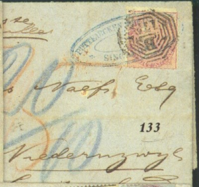 cover 1867 (7 Feb.) entire let