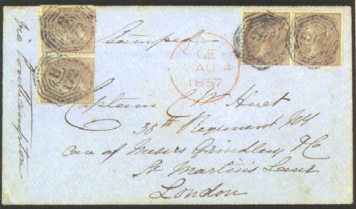 cover 1857 (19 June) envelope