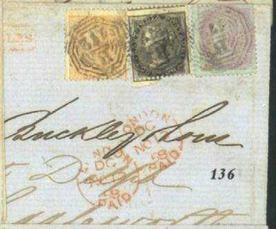 cover 1858 (30 Sept.) entire l