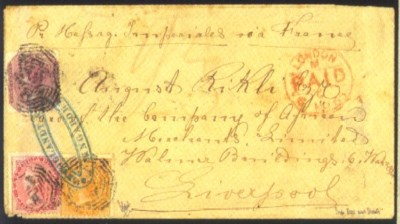 cover 1866 (Feb.) envelope to