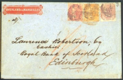 cover 1867 envelope to Edinbur