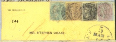 cover 1861 (Jan.) envelope to