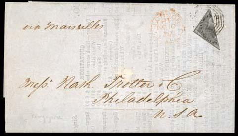 cover 1859 (5 Oct.) printed Pr