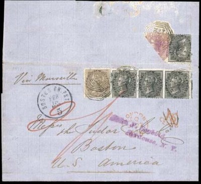 cover 1861 entire from Singapo