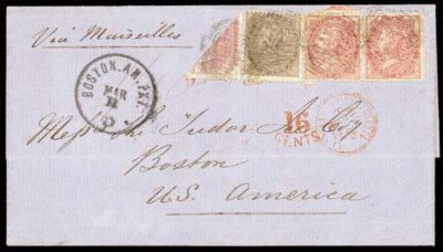 cover 1862 (Jan.) entire from