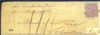 cover 1856 (Dec.) envelope to