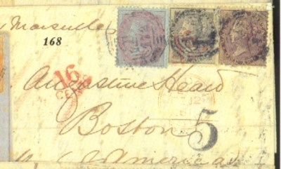 cover 1860 (29 Dec.) entire ex