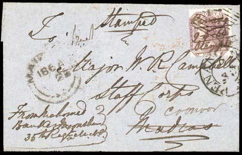 cover 1864 (9 Apr.) entire let
