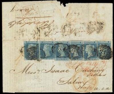 cover 1849 (6 Aug.) partly pri