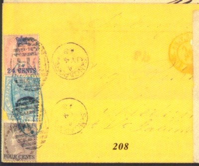 cover 1868 (4 July) yellow env
