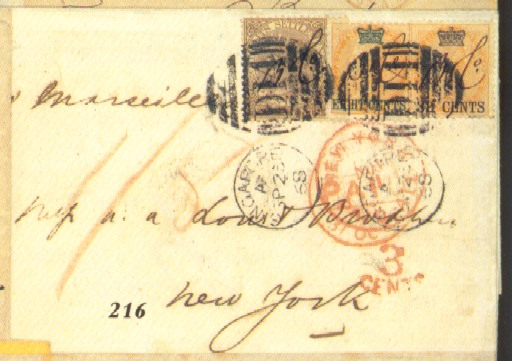 cover 1868 (23 Sept.) entire t
