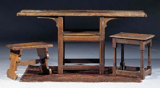 An oak side-table