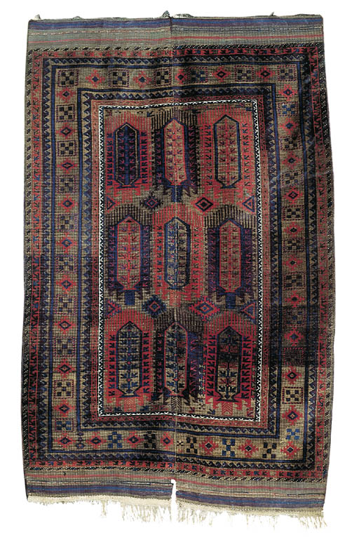 An antique Baloutch carpet