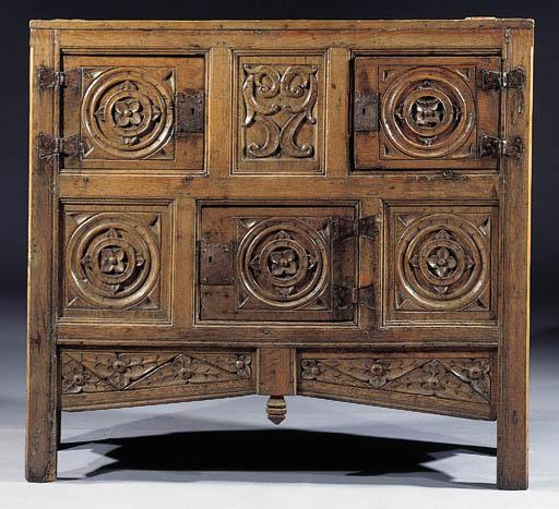 An oak cabinet