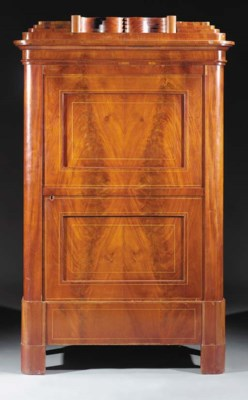 A German mahogany cupboard