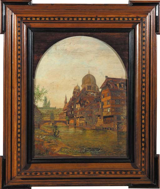 A German marquetry and polychr