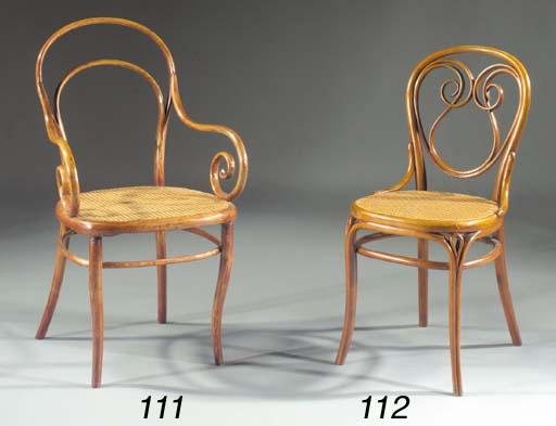 A bentwood armchair