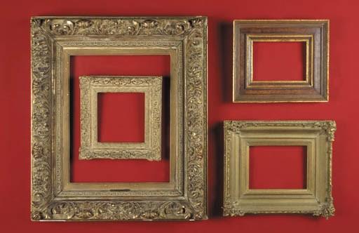 A set of four various gilt-woo