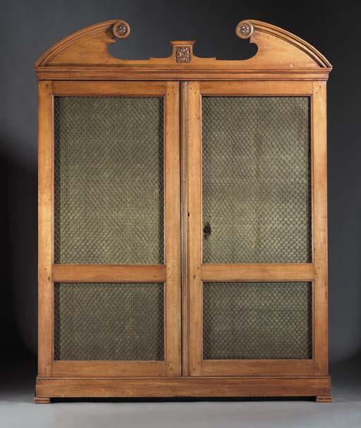A Dutch oak bibliotheque