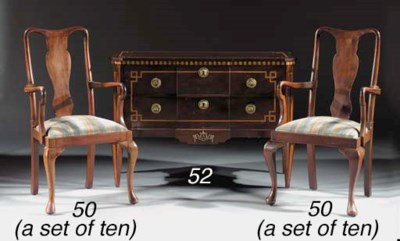 A Dutch mahogany and parquetry