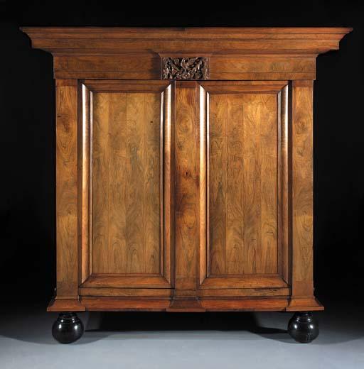 A Dutch walnut armoire