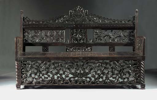 A Dutch Colonial stained carve