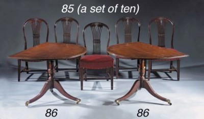 A set of ten mahogany dining-c