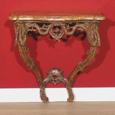 A Louis XVI walnut console tab