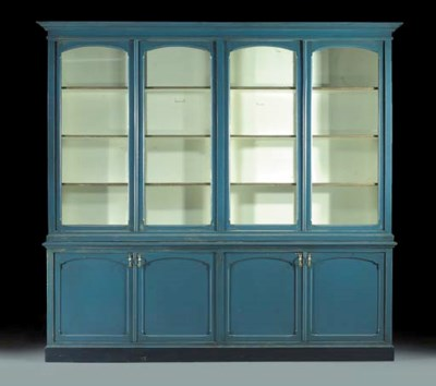 A Dutch blue-painted display-c