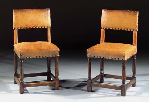 A pair of Dutch stained wood c