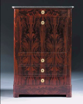 An Empire mahogany secretaire