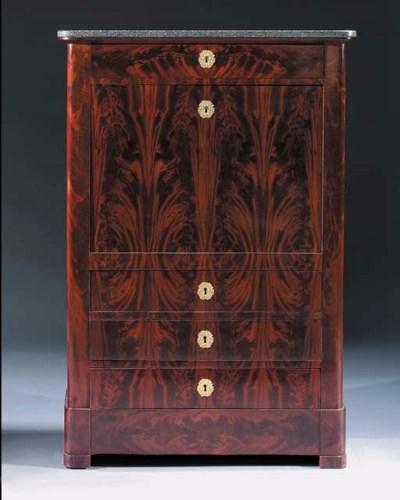 An Empire mahogany secretaire