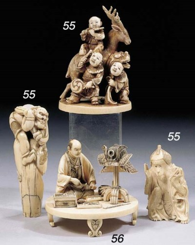 Seven various ivory and bone o