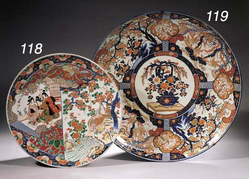 A pair of Imari chargers