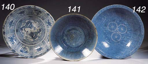 Three Swatow saucer dishes