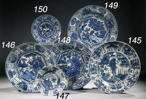 A Swatow blue and white saucer