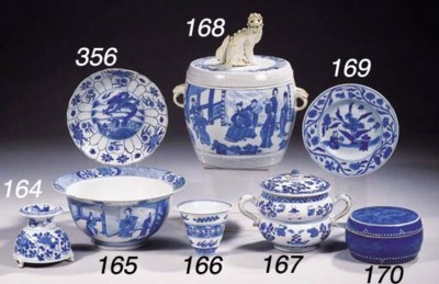 A rare blue and white bowl and
