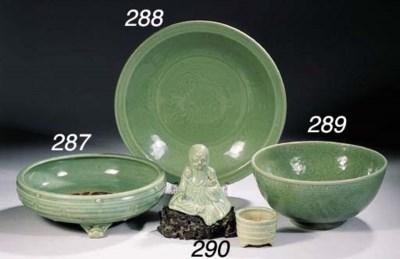 A Ming celadon dish