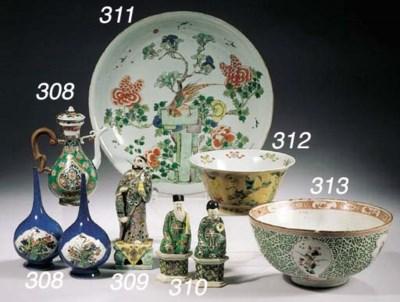Three polychrome bowls