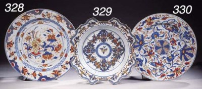A pair of Imari dishes
