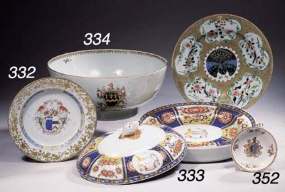 An armorial oval warming dish