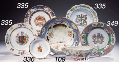 An armorial sauce-boat and sau