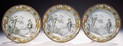 A set of three grisaille and g