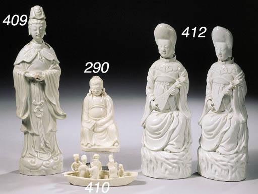 A blanc-de-Chine figure of Gua