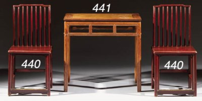 A Huanghuali side table