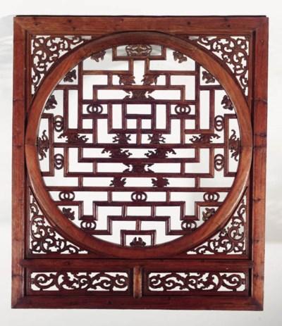 Two Suzhou elmwood openwork wi