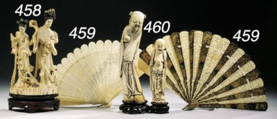 Six ivory figures