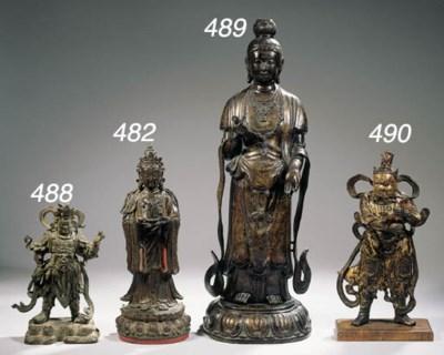 A bronze figure Guandi