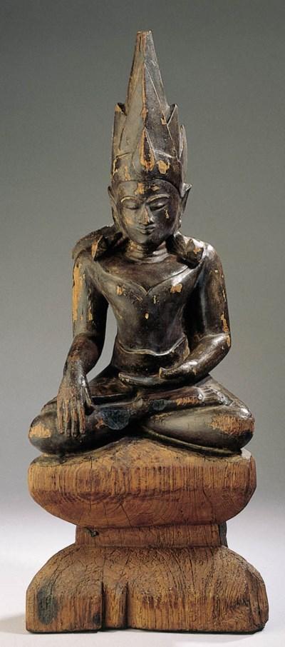 a burmese, pagan style, black